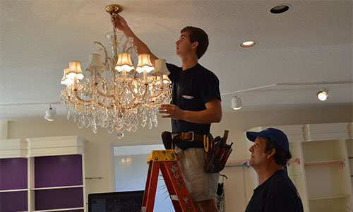Services repair ceiling fan and chandelier installation and repair aloadofball Choice Image